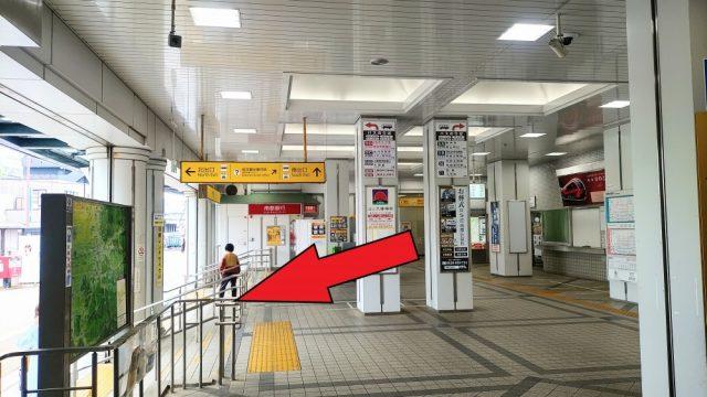 JR・近鉄桜井駅の改札を出て南口から出ます
